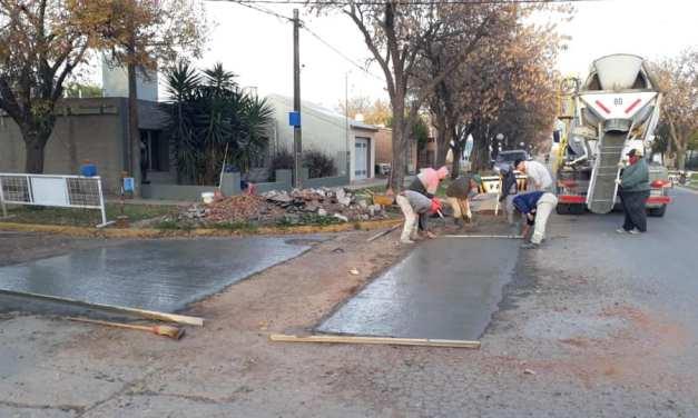 Nuevos paños de hormigón en calles de la ciudad