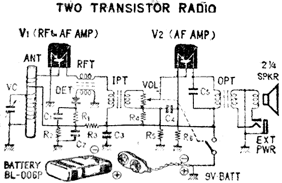two transistor radio circuit