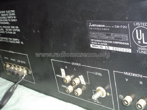 FM Stereo Tuner DA-F20 Radio Mitsubishi Electric Corporation