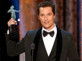 Matthew McConaughey ganó por su participación protagónica en Dallas Buyers Club