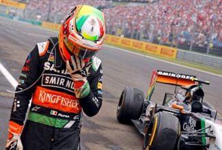 Accidente obliga a Sergio Pérez a abandonar el Gran Premio de Hungría