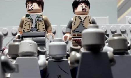 Así se ve con Lego, la escena donde casi muere Glenn en TWD