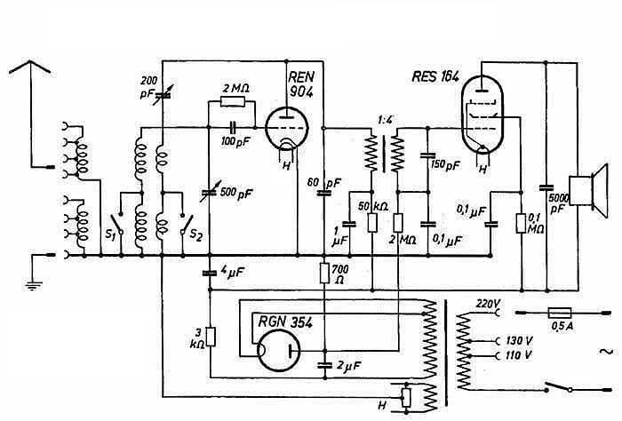one tube regen radio circuit