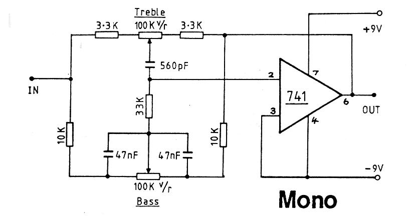 stereo preamplifier circuit 741