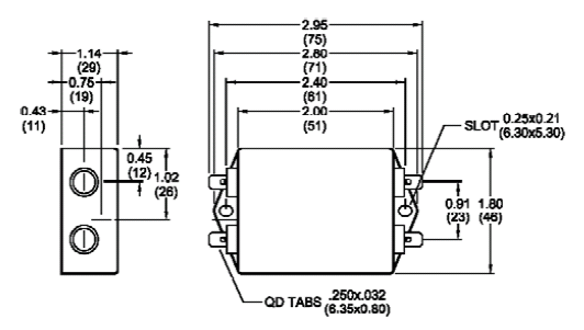 dc emi filters single and dual stage emi filters