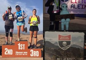 For #medalmonday… 1st time evar finishing 1st overall female then a good 16hrs later ran my worst 13.1mi of the yr lol but had (sleepy) fun regardless. Oh, it was a loooong (27hrs) day! #nuunlife #desertdashtrailraces #calicoracing #lasvegas #running [instagram]