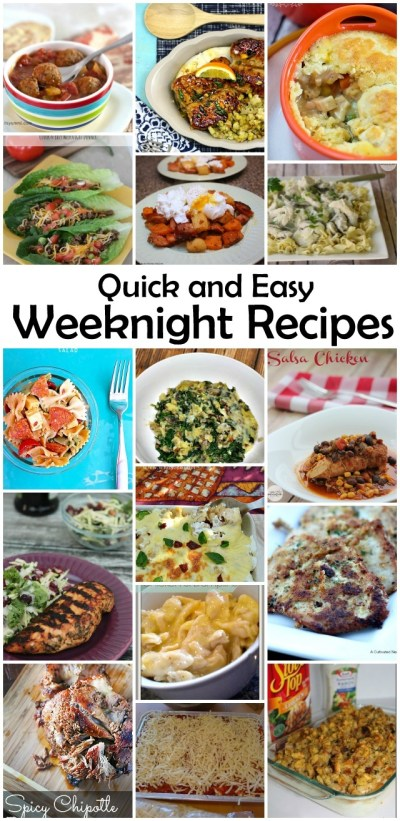Quick and Easy Weeknight Recipes {MMM #258 Block party} • Keeping it Simple