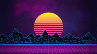 Synthwave - Neon 80's - Background – Rafaël De Jongh – Web Developer | 3D Artist
