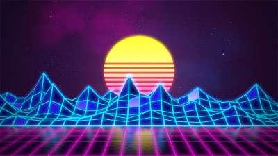 Synthwave - Neon 80's - Background – Rafaël De Jongh – Web Developer | 3D Artist