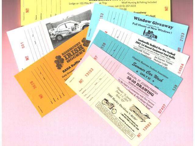Raffle Ticket Printing Custom Raffle Tickets - HARING PRINTING  ART
