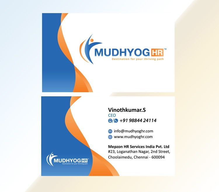 Business Visiting Card Designers Printers Company in Chennai India