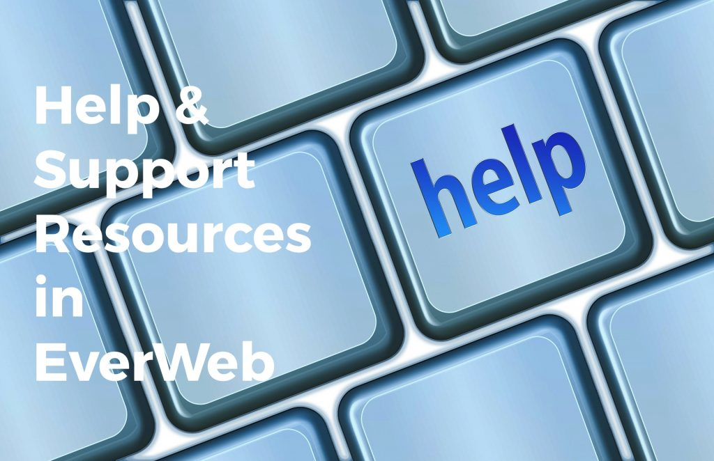 Help and Support Resources in EverWeb - help and support