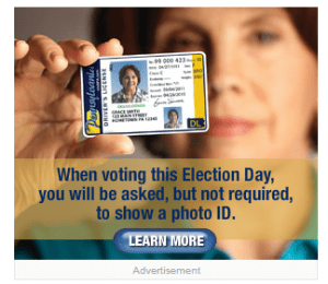 PA Voter ID Ad from Examiner Website