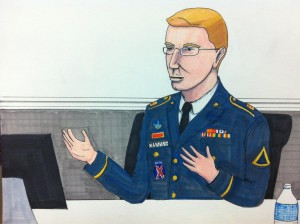 Bradley Manning, sketched by Clark Stoeckley of the Bradley Manning Support Network