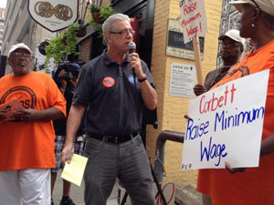 John Dodds from Philly Unemployment Projects. Photo credit: Raise the Wage PA
