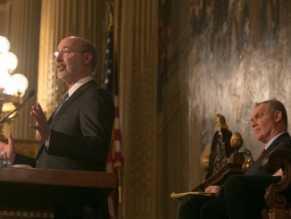 """Image credit: """"Behind-the-Scenes: Governor Wolf on Budget Day 2016,"""" Gov. Tom Wolf. Flickr. Attribution 2.0 Generic (CC BY 2.0)"""