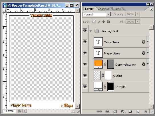 photoshop trading card template - Maggilocustdesign