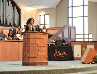 Preaching at the Historic Ebenezer Baptist Church in Atlanta, GA