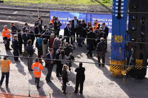 Turning of the first sod was turned in August 2009 - a few media, and a lot of minders