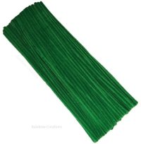 Green Pipe Cleaners 30cm long | Children's Craft Supplies