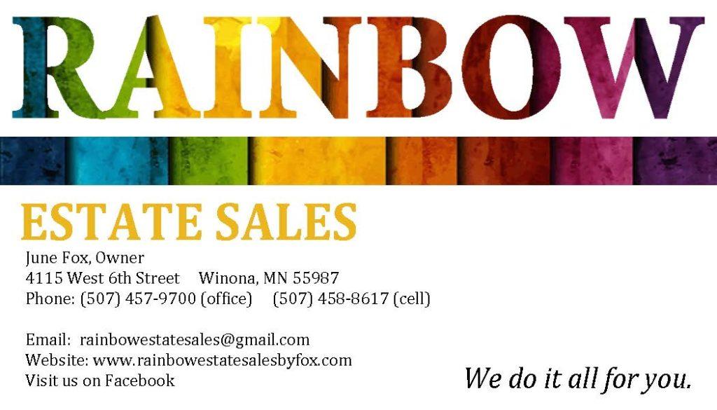 Rainbow Business Card 2015 Jpeg Rainbow Estate Sales