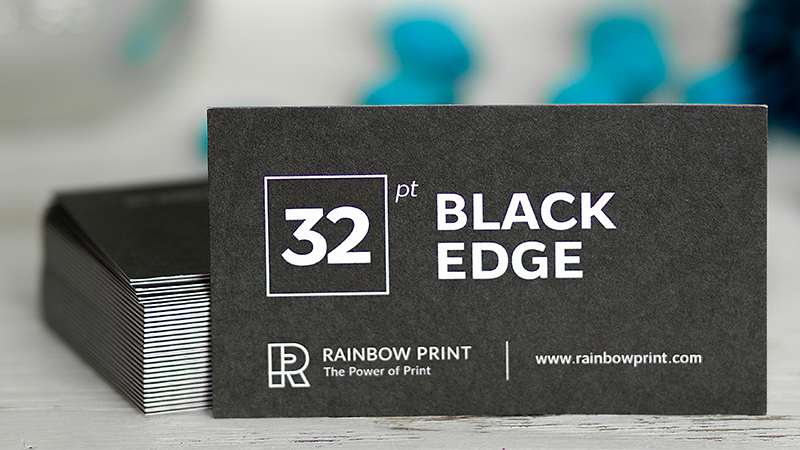Edge Business Cards - Rainbow Print