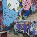 Rainbowtized Graffiti Wall