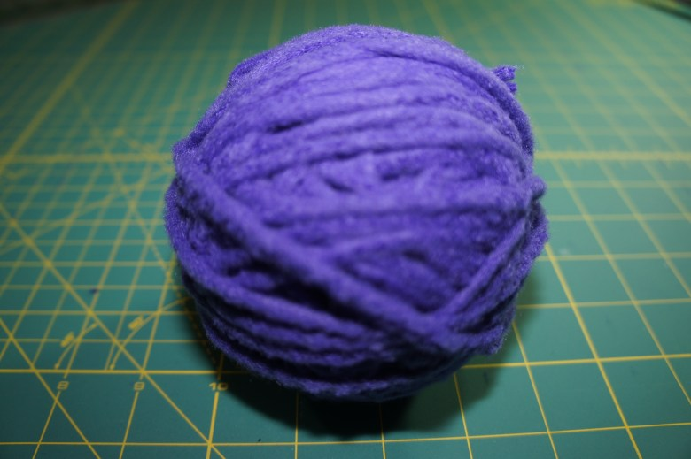 Here is my fleece all wound up and ready to use on any project you would use a bulky yarn.