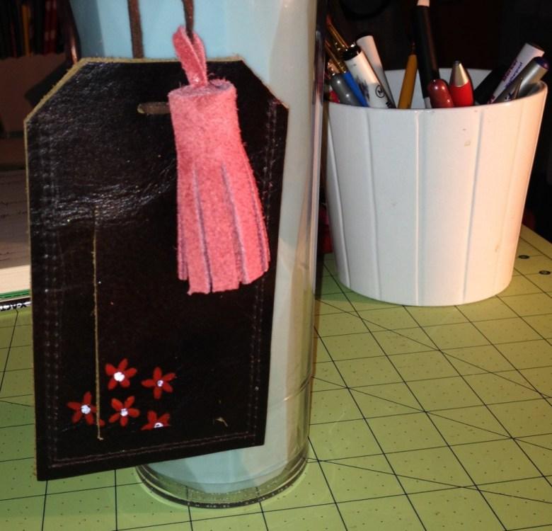 leather luggage tag diy