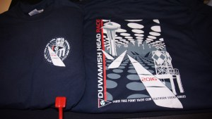 4-color super detailed screen printed t-shirt for Three Point Yacht Club.