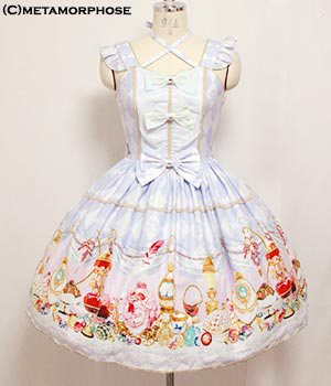 Metamorphose Fancy Egg Bustle Pinafore Dress