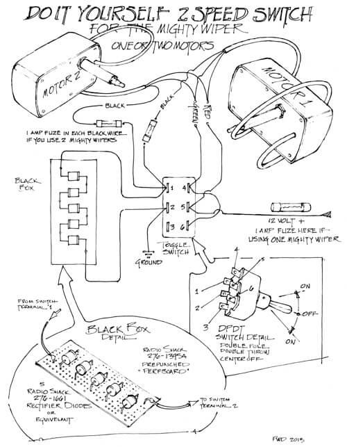 The Mighty Wiper \u2013 Wiring Diagram RainGear Wiper Systems