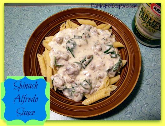 Homemade Fresh Spinach Alfredo Sauce ~ You'll Never Reach for a Jar Again!