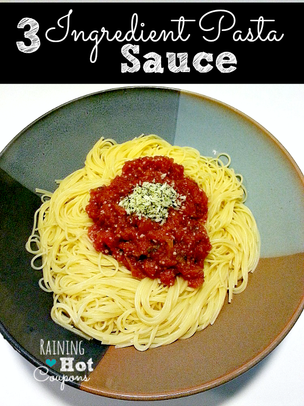 Three Ingredient Pasta Sauce Recipe