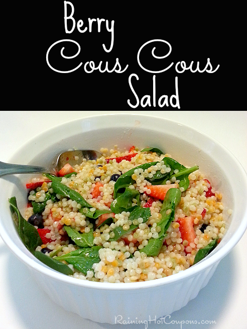 Summer Vegetarian Recipes: Refreshingly Berry Cous Cous Salad
