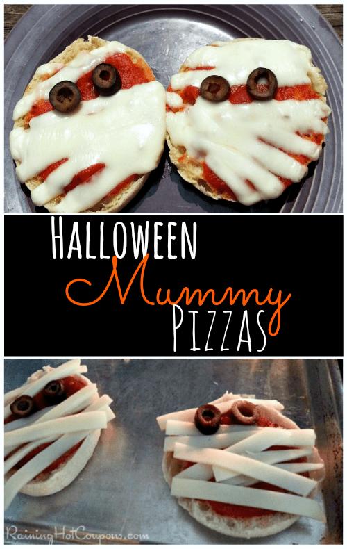 halloween mummy pizzas