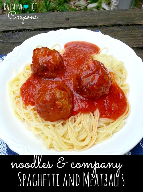 Copycat Noodle & Company Spaghetti and Meatballs