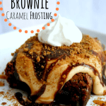 Chocolate Chunk Brownies with Caramel Frosting