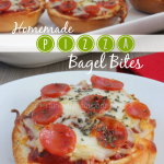 Homemade Garlic Pizza Bagel Bites