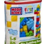 Amazon: Mega Bloks First Builders 80-Piece Big Building Bag Only $13.49 (Reg. $29.99)!