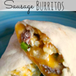 Easy Sausage Breakfast Burritos (Freezer Cooking Recipe)