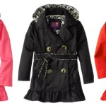 *HOT* Girls 2-6X Double Leopard Trench Rain Jacket (Pink, Black and Red) ONLY $17.80!