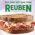 *HOT* Arby's: Buy 1 Get 1 FREE Reuben Sandwich Coupon