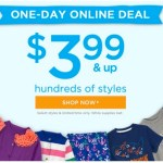 Gymboree: *HOT* One-Day Online SALE = Clothing Items Only $3.99!