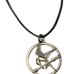 The Hunger Games Mockingjay Pendant Necklace on Leather Cord Only $2.19 + FREE shipping (Reg. $19.99)