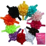 *HOT* 11 Pack Girl's Flower Hairbands Only $0.60 each + FREE Shipping ($6.60 Total)
