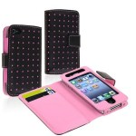 Wallet Leather Case compatible with Apple iPhone 4/4S Only $3.34 + FREE Shipping!