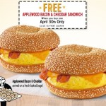 *HOT* Einstein Bros Bagels: Buy 1 Applewood Bacon & Cheddar Sandwich, Get 1 FREE Coupon! (TODAY Only)