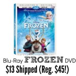 Disney's Frozen 2-Disc Blu-Ray DVD Pack Only $13 (Reg. $44.99)!