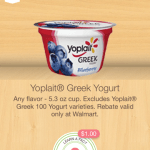 FREE Yoplait Greek Yogurt at Walmart!